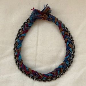 Braid and Chain Choker Necklace